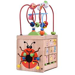 Wooden Activity Cube for Toddlers, Wooden Toys, Baby Activit