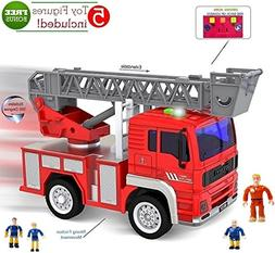 FUNERICA Toy Fire Truck with Lights and Sounds - Extendable