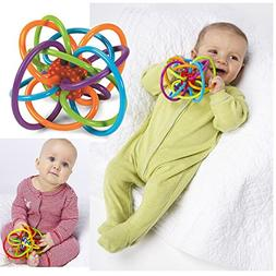 Toyofmine Toy Winkel Rattle and Sensory Teether Activity Toy