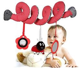 Tp Sky Beetle Mirror Musical Circle Round Stroller Toys for