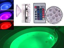 GlowTub Underwater Remote Controlled LED Color Changing Ligh