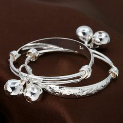 "Unique & Elegant 925 Sterling Silver 2"" Bracelet Bangle for"