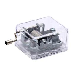Unique Transparent Musical Box Acrylic Hand Crank Music Box,