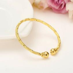 Unisex Baby, Toddler, Kids' 24k Gold Plated Bangles for Spec
