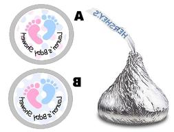 UNISEX FOOTPRINTS BABY SHOWER HERSHEY KISSES KISS LABELS STI