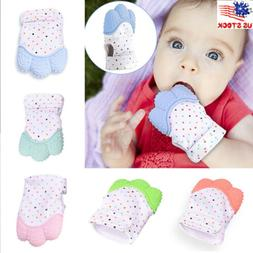 US Teething Mitten For Babies Glove Mit Self Soothing Pain R