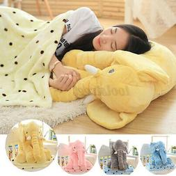 USA Large Elephant Soft Sleep Pillow Animals Plush Toy For B