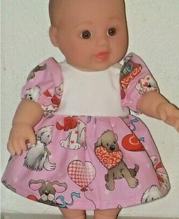 Valentine Puppies  --  Dress -- Custom  Made  For  12  inch