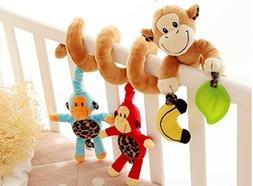 VALUE MAKERS Cute Monkey Design Infant Baby Activity Spiral