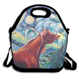 Van Gogh Starry Night Horse Lunch Bag Lunch Tote Lunch Box H