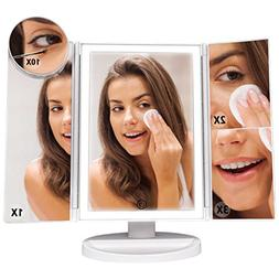 Vanity Mirror, F-color Trifold High Brightness Dimmable LED