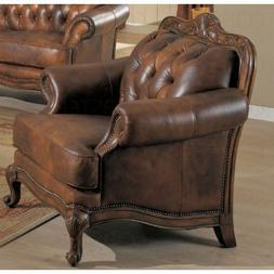 Victoria Leather Chair - Coaster Co.