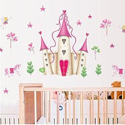 Wall Decal Beautiful Princess Castle Home Sticker House Deco