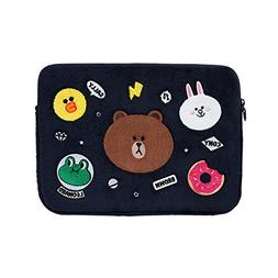 LINE FRIENDS Wappen Laptop Sleeve 13 Inch One Size Navy