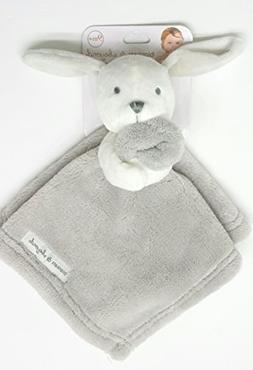 Blankets and Beyond White Bunny With Grey Blanket Nunu Baby