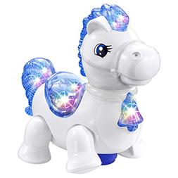 WEofferwhatYOUwant White Pony Horse Equestria Toy - with Mus