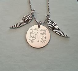 Your Wings Were Ready My Heart Was Not Circle Necklace Memor