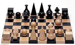 Wood Chess Set By Man Ray Re-edition of 1920