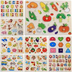 Wooden Animal Letter Jigsaw Puzzle Early Educational Learnin