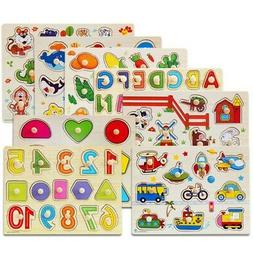 Wooden Animal Letter Puzzle Early Learning Educational Toys