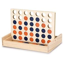 Sumnacon Wooden Connect 4 Game, Classic Connect Four in a Ro