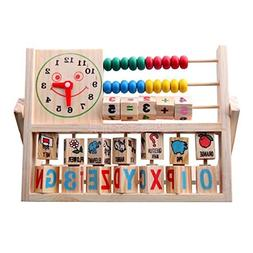 Wooden Educational Toys Multifunctional Calculation Frame Le