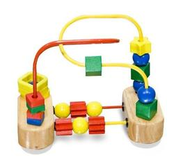 Wooden First Bead Maze Classic Toy + FREE Melissa & Doug Scr