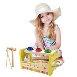 Wooden Hammering & Pounding Toys + 8 Notes Xylophone + Shape