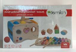 Rolimate Wooden Learning Hammering  Pounding Toys + 8 Notes