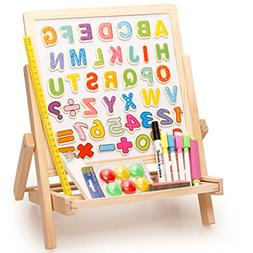 Lewo 3 in1 Wooden Magnetic Art Easel Double Sided Drawing Wh