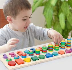 Wooden Montessori Sorter Montessori Toys for Toddlers Shapes
