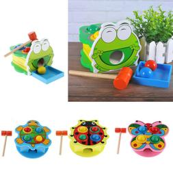 Wooden Pounding Toy with Hammer, Color Matching Game Develop