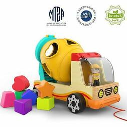 Wooden Shape Sorter Toys for Toddlers Learning Sort and Matc