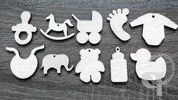 wooden shapes baby shower themed for crafts