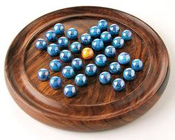 House of Marbles Wooden Solitaire Coffee Table Board Game Vi