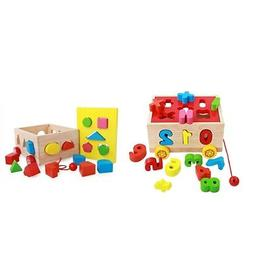 Wooden Toy Shape Sorter Toy for Baby Recognition Color Geome