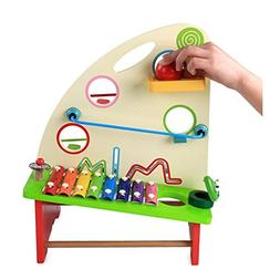 ZaH Baby Wooden Toys Xylophone Pounding Bench Toy for Toddle