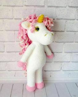 Wool Knitted Unicorn Cute Toy For Gifts For Kids New Handmad