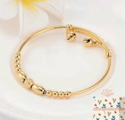 Yellow Gold Plated Bracelet Bangle For Newborn Baby Girl Wit